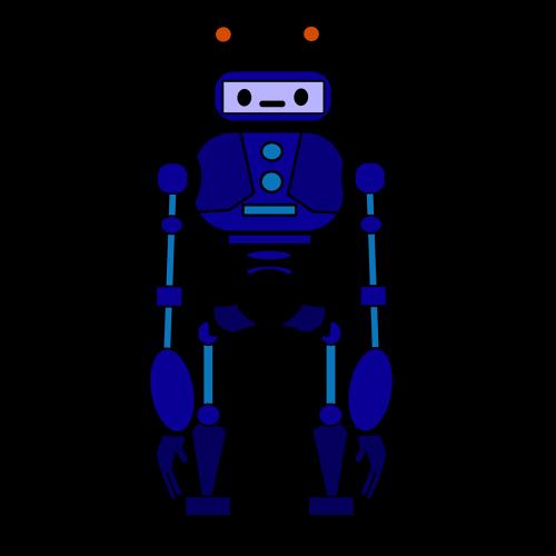 —Pngtree—blue robot clip art_5742558